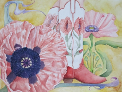 California poppy, Lady boots-$435 series