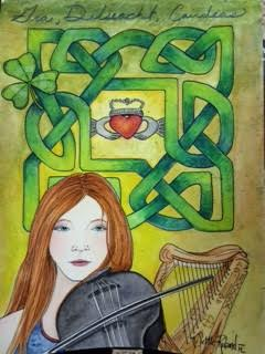 "Irish- Beauty series 9""x12""- $250"